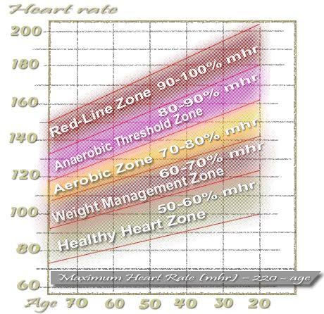 resting pulse rate chart. Your target heart rate zone,